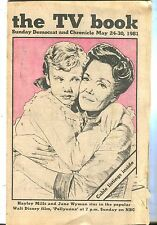 The TV Book Democrat And Chronicle May 24-30 1981 Hayley Mills EX 021917jhe