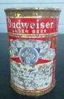 vintage Budweiser 10 oz Flat Top Beer can St. Louis Newark Los Angeles