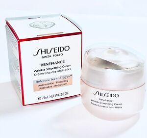 Shiseido Benefiance Wrinkle Smoothing Cream 2.6oz/75mL•ALL SKIN TYPES•SEALED+NEW