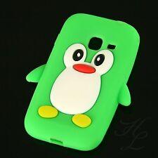 Samsung Galaxy Ace Duos S6802 Silikon Case Handy Schutz Hülle Etui Pinguin Grün