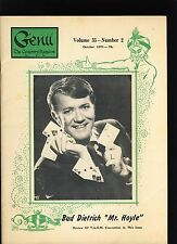 Bud Dietrich 'Mr Hoyle' Genii Magicians Magazine Oct1970 - contents in post