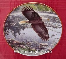 John Pitcher *Spring On The River* Hamilton Collector Eagle Bird plate Mib & Coa
