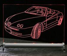 Alfa Spider als AutoGravur auf LED Schild - Alfa Romeo
