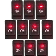 HOTSYSTEM Lot10 12V 35A Car Fog Light Rocker Switch 4Pins Red LED Dash Dashboard