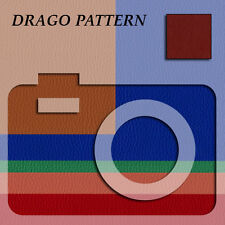 Camera Body Leatherette Custom Skin Impressia DRAGO Pattern BIG SHEETS!