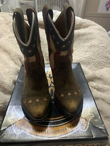 dan post  Stars And Stripes Cowboy Childern Boots
