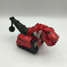"Dinotrux Ty Rux 2015 Mattel Push and Go Pull Back Toy Red 7"" Dinosaur Vehicle"