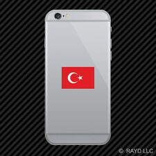 Flag of Turkey Cell Phone Sticker Mobile Vinyl Turkish crescent moon and a star