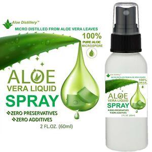 Aloe Vera Gel 100% PURE THE ONLY Organic SPRAY-ON ALOE Moisturizer 2oz w/Sprayer