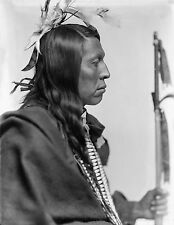 """1898 Sioux Native American Indian, Flying Hawk, antique photo, 20""""x16"""""""
