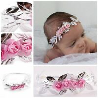 Kids Cute Garland Elastic Hair Band Leaf Headwear Baby Headband Flower