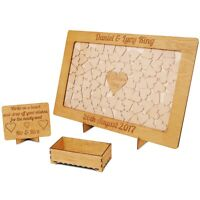 Guest Book Drop Box Personalised Wedding Heart  Alternative
