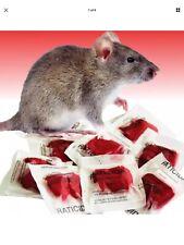 Mice Rat Mouse Poison 10 Packs Soft Bait Vole Rodent Professional Grade 100 Gram