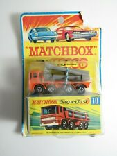 Vintage Matchbox Superfast #10 Pipe Truck New Rough package