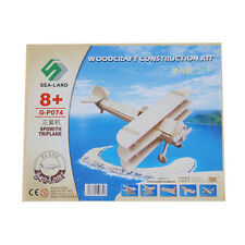 New Puzzled 3D Wooden Sopwith Triplane Model Construction Kit Puzzle Toy Gift ED