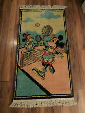 Vintage Mickey Mouse tapestry - wall hanging/rug Playing tennis