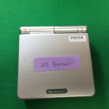 P9454 Nintendo Gameboy Advance SP Platinum Silver console GBASP no battery x