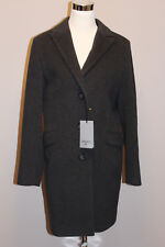 NWT CINZIA ROCCA DUE  WOOL BLEND ANTHRACITE COAT sz 14