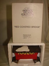 Dept 56 Heritage Village Collection Red Covered Bridge Department 56 Iob 5987-0