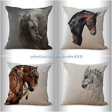 4pcs cushion covers equine horse equestrian decorative pillow covers cheap