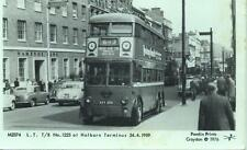 Pamlin photo postcard M2374 London Transport Trolleybus 1225 Holborn 1959
