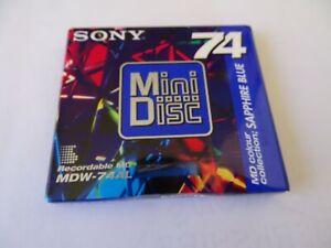 Sony Mini  Disk  NEW 74  MD colour Sapphire Blue