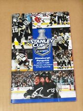 Evgeni Malkin, Pgh Penguins Signed 2008 Stanley Cup Playoffs Program, On Cover