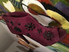 Michael Michael Kors Naveen Embellished Peep-Toe Bootie Shoe SZ 6 Retail $250