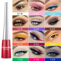 12 Colorful Matte Liquid Eyeliner Neon Green White Eye Liner Pen Long Lasting AU