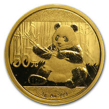 2017 3 gram Gold Chinese Panda Coin Sealed in Mint Pouch Brilliant Uncirculated