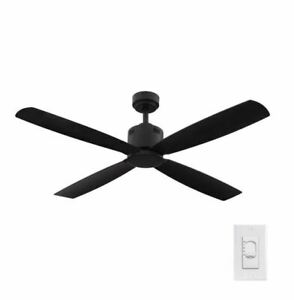 H D Kitteridge 52 in. Indoor Matte Black Ceiling Fan