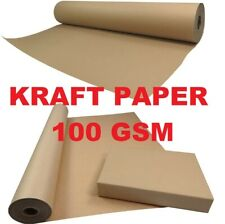 STRONG BROWN KRAFT WRAPPING PARCEL PAPER PACKAGING WRAPPING 100GSM FREE P&P