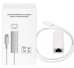 For Apple iPhone iPad to RJ45 Ethernet LAN Wired Network Adapter Cable UK
