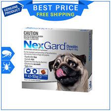 NEXGARD For Dogs BLUE Pack 4.1-10 Kg 3 Chews Flea and Tick treatment NEXGUARD
