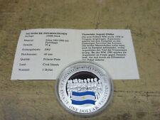 Cook Island , 2002 , 1 $ Silber PP mit Farbe , ARGENTINIEN Runner-Up FIFA WM