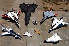 New 5x7 Photo: NASA Research Aircraft, X-31, F-15B, SR-71, F-106 Jet Airplane