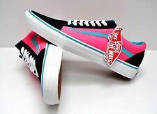 Vans Old Skool Brite Black Neon Pink VN0004OJJSU Men's Size 11.5