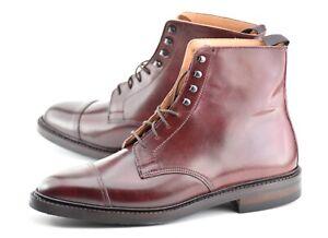NEW w BOX | PEAL & CO x CROCKETT & JONES 9.5D #8 SHELL CORDOVAN CAP TOE BOOTS