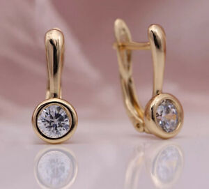 18K ROSE GOLD FILLED FLAME HOOP EARRINGS MADE WITH SWAROVSKI CRYSTALS GIFT GF47