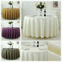 Round Table Cloths Jacquard Polyester Tablecloths Home Dining Hotel Modern Cover