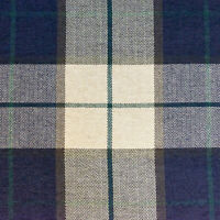 "54"" Wide Drapery Upholstery Plaid Chenille Fabric Navy By the Yard"