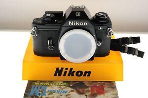 Nikon EM black auto SLR. EXC+ condition. +strap+manual. Tiny F mount!