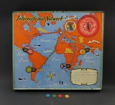 Rare Vintage 'International Network' Civil Aviation Board Game. 1950s