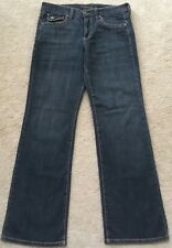 Womens Common Genes Thick Stitch Bootcut Stretch Blue Denim Jeans Size 6