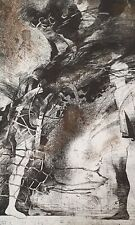 1985 Abstract surrealist portrait fantasy figures print signed