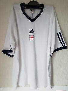 Vintage ADIDAS 2002 Japan /Korea World Cup ENGLAND Shirt No. 7 - Size XL - Used
