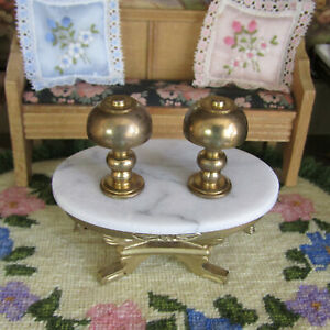 Vtg 50s Dollhouse MID CENTURY BRASS LAMP LOT Bedroom Light Petite Princess Style