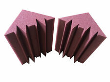 Promotion 12 PCS Studio Corner Acoustic Sponge Burgundy Bass Trap Foam