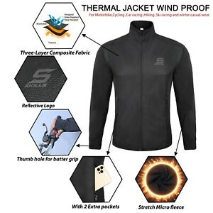 Men's Winter Warm Windproof Thermal Jacket Bomber Flying For Outdoor Activities