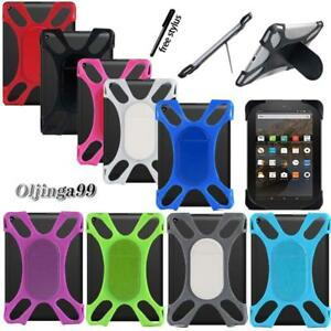 """Tablet Shockproof Silicone Stand Cover Case For Amazon Kindle Fire 7"""" / HD 8"""""""